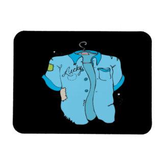 Lucky Bowling Shirt Rectangle Magnet