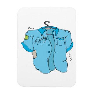 Lucky Bowling Shirt Vinyl Magnet