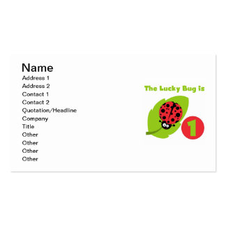 Lucky  Bug 1st Birthday T-shirts and Gifts Business Cards