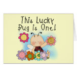 Lucky Bug 1st Birthday T-shirts and Gifts Greeting Card