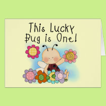 Lucky Bug 1st Birthday T-shirts and Gifts Card