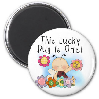 Lucky Bug 1st Birthday T-shirts and Gifts Magnet