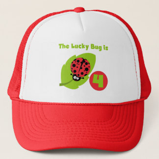 Lucky Bug 4th Birthday T-shirts and Gifts Trucker Hat