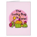 Lucky Bug Cupcake 1st Birthday Tshirts and Gifts Cards