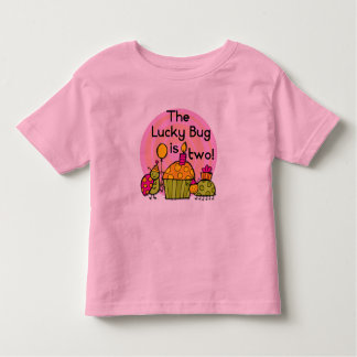 Lucky Bug Cupcake 2nd Birthday T-shirts and Gifts