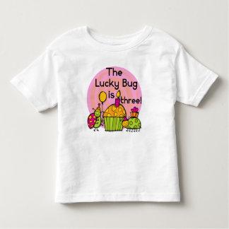 Lucky Bug Cupcake 3rd Birthday Tshirts and Gifts