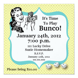 Lucky Bunco Player Invitation by Artinspired