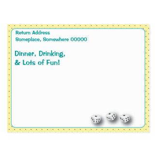 Lucky Bunco Player Postcard by Artinspired
