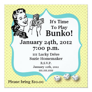Lucky Bunko Player Invitation by Artinspired