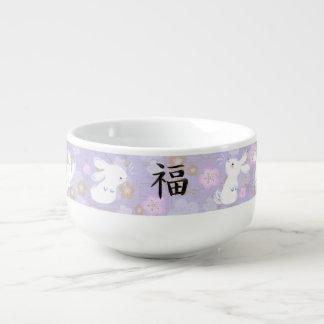 Lucky Bunnies Soup Bowl (lavender) Soup Mug