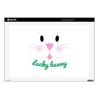 """Lucky Bunny Decal For 17"""" Laptop"""