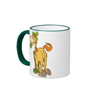 Lucky Cartoon Horse on St Patrick's Day mug mug