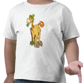 Lucky Cartoon Horse St Patrick's Day KidsT-shirt shirt