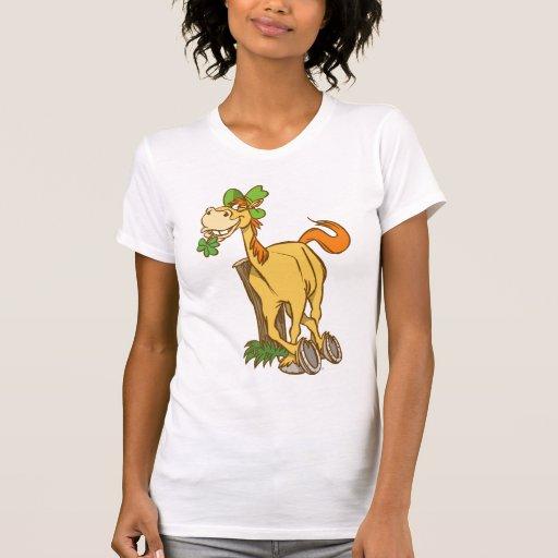 Lucky Cartoon Horse-St Patrick's Day Women T-shirt