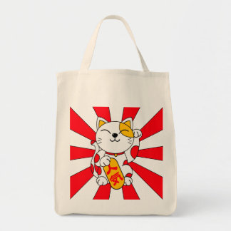 Lucky cat (A) Grocery Tote Bag