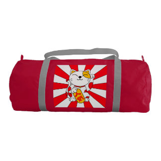 Lucky cat (A) Gym Bag