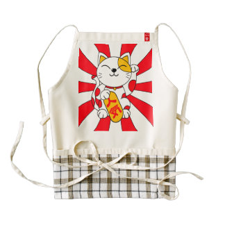 Lucky Cat (A) Zazzle HEART Apron