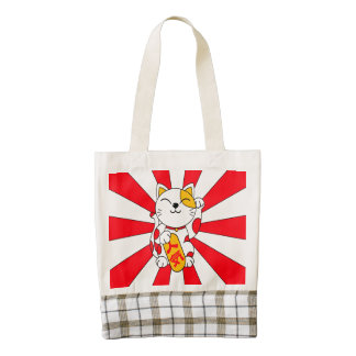 Lucky cat (A) Zazzle HEART Tote Bag