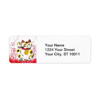 Lucky Cat Address Labels
