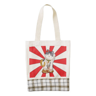 Lucky Cat B Zazzle HEART Tote Bag