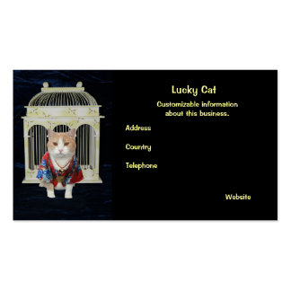 Lucky Cat Double-Sided Standard Business Cards (Pack Of 100)