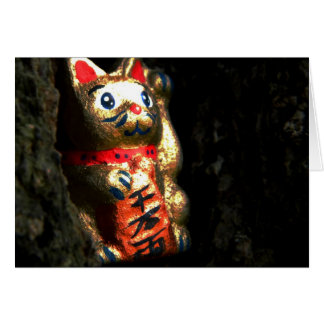 Lucky Cat in Bark Card