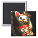Lucky Cat in Bark Refrigerator Magnets