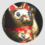 Lucky Cat in Bark Stickers