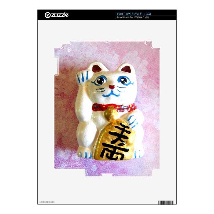 Lucky Cat iPad 2 Decal