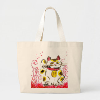 Lucky Cat Large Tote Bag