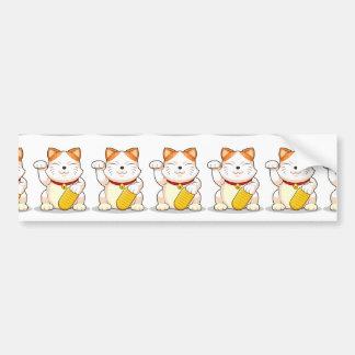 Lucky Cat Makeni Neko Bumper Stickers