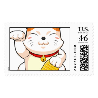 Lucky Cat Makeni Neko Postage Stamps