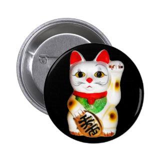 Lucky Cat Maneki Neko Button