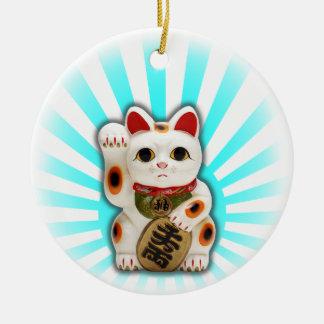 Lucky Cat (Maneki-neko) Ceramic Ornament