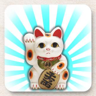Lucky Cat (Maneki-neko) Drink Coaster