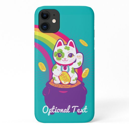 Lucky Cat Maneki Neko Good Luck Pot of Gold iPhone 11 Case