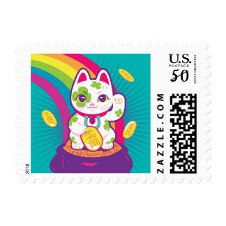 Lucky Cat Maneki Neko Good Luck Pot of Gold Postage