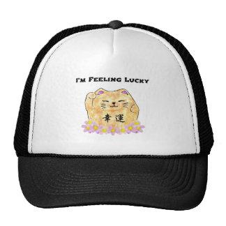 "Lucky Cat (Maneki Neko) - ""I'm Feeling Lucky"" Trucker Hat"