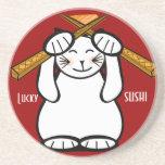 Lucky Cat- Maneki Neko - sushi.. Coasters