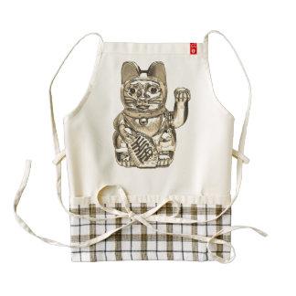 Lucky cat, Maneki-neko Zazzle HEART Apron