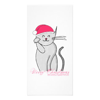 Lucky Cat Merry Christmas & plenty of good fortune Card