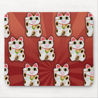 Lucky Cat Pattern Mouse Pad