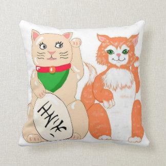 Lucky Cat Pillows
