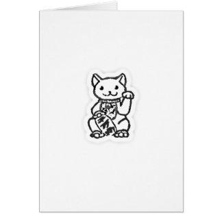 Lucky cat shirt design 2 card