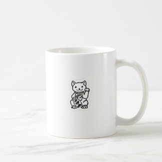 Lucky cat shirt design 2 coffee mug
