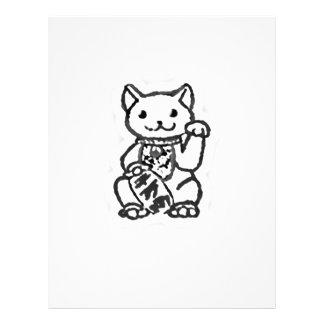 Lucky cat shirt design 2 letterhead