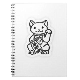 Lucky cat shirt design 2 notebook
