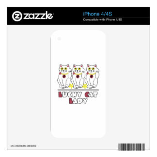 Lucky Cat Skin For iPhone 4