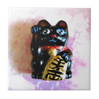 Lucky Cat Small Square Tile
