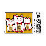 Lucky Cat stamps